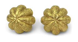 Tiffany & Co. 18 Karat Yellow Gold Sea Urchin Earrings