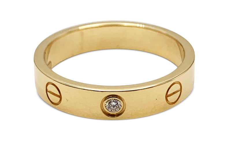 Cartier Love Yellow Gold Diamond Ring