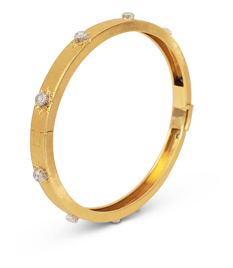 Buccellati Classica Gold and Diamond Bangle