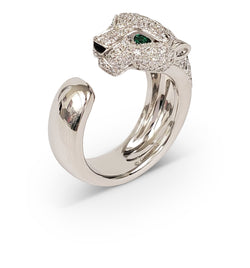 Cartier Panthère de Cartier White Gold Diamond Emerald and Onyx Ring