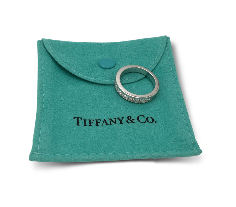 Tiffany & Co. Platinum Diamond Half-Band