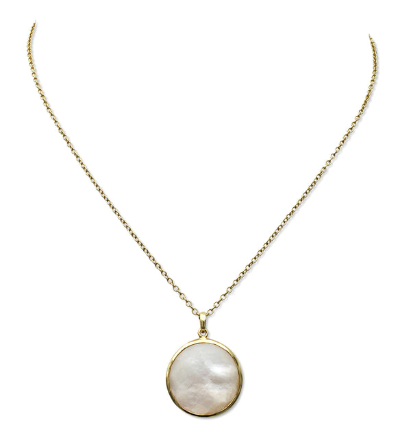 Ippolita Lollipop Mother of Pearl Doublet Pendant Necklace
