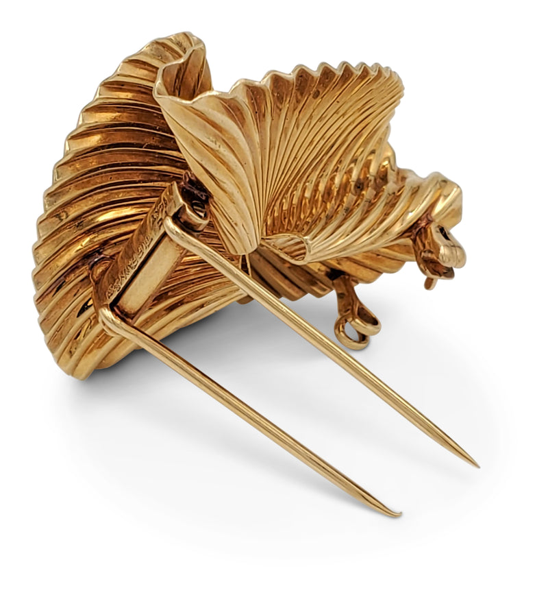 Tiffany & Co. Retro Gold Swirl Pin