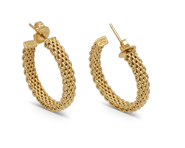 Tiffany & Co. Somerset Gold Hoop Earrings