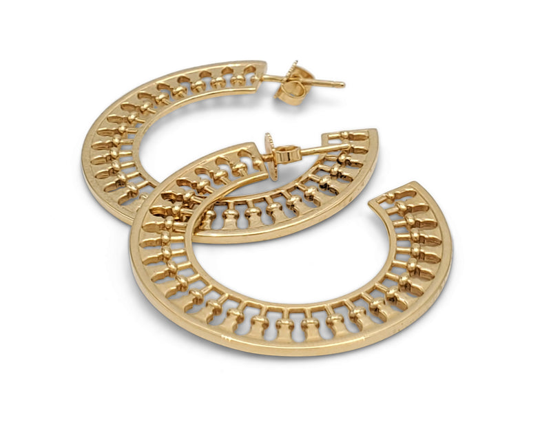 Paloma Picasso for Tiffany & Co. Venezia Stella Gold Hoop Earrings