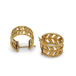 Temple St. Clair Tree of Life Gold Vine Earrings
