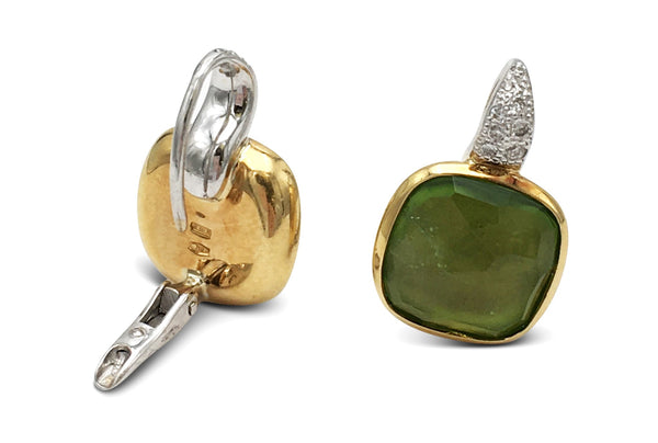 Pomellato Sherazade Gold Peridot and Diamond Earrings