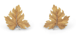 Buccellati Yellow Gold Leaf Earrings