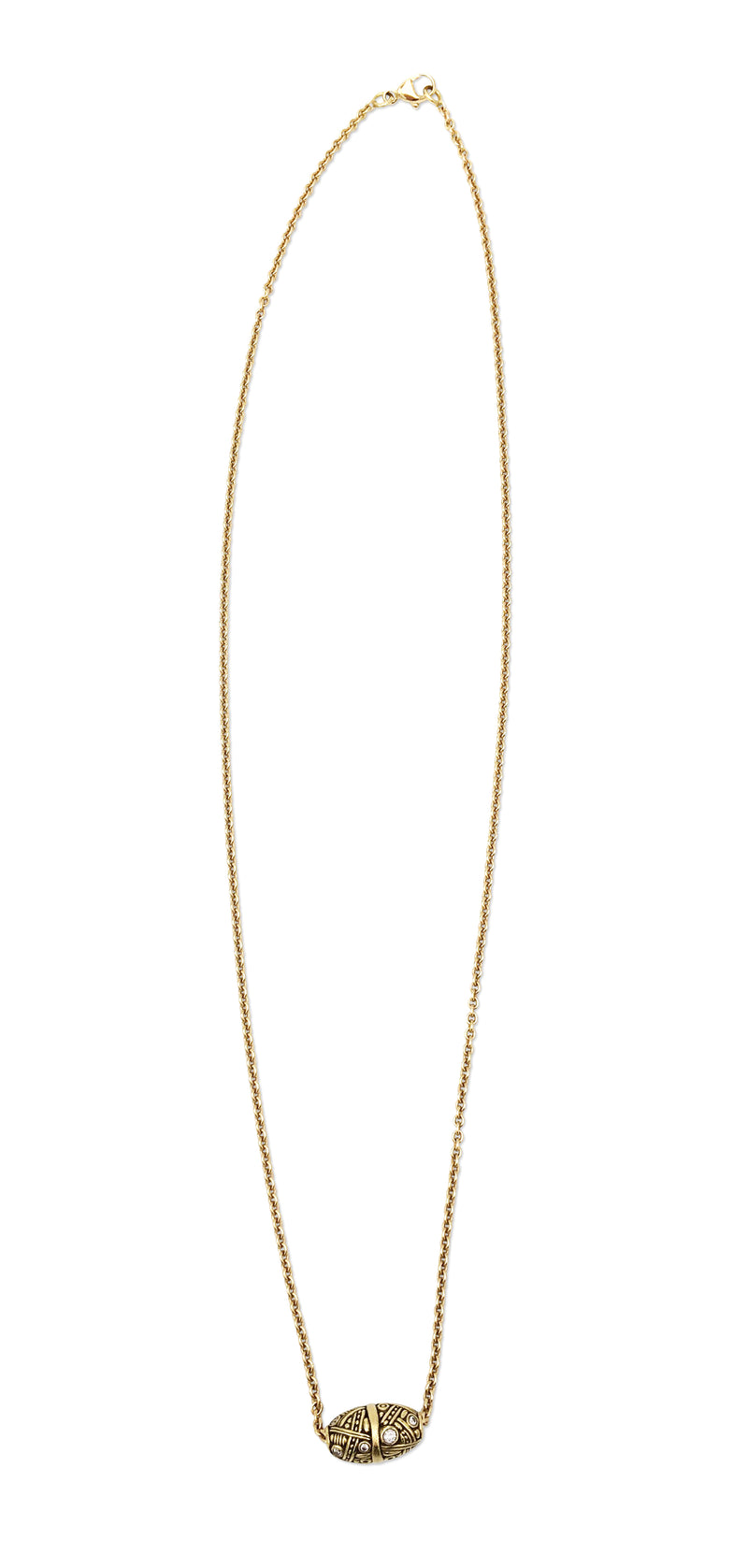 Alex Sepkus Gold and Diamond Bead Pendant Necklace