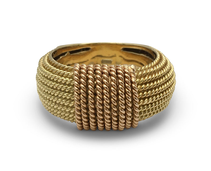 Roberto Coin Braided Two-Tone Gold Ring