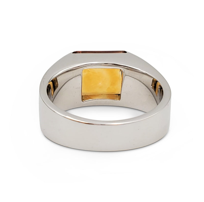 Cartier Tank White Gold and Citrine Ring