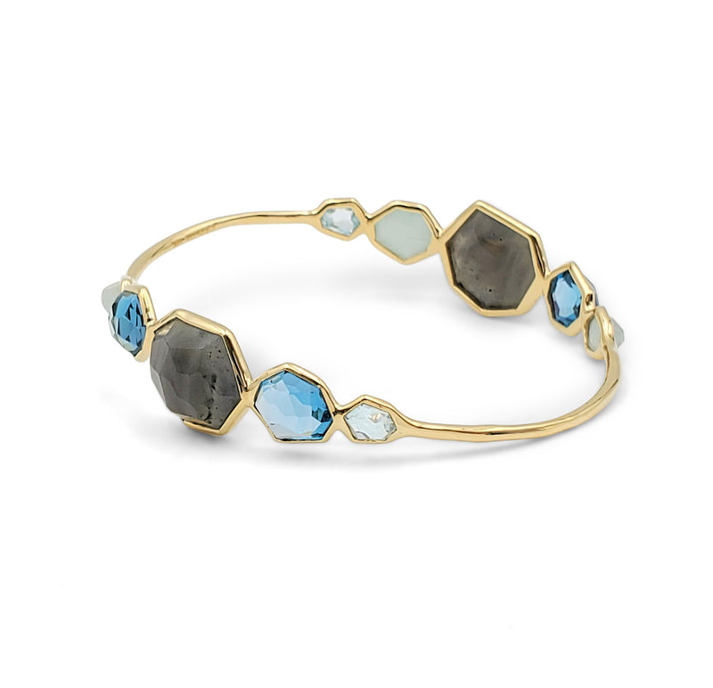 Ippolita Rock Candy Yellow Gold 10 Gemstone Bangle