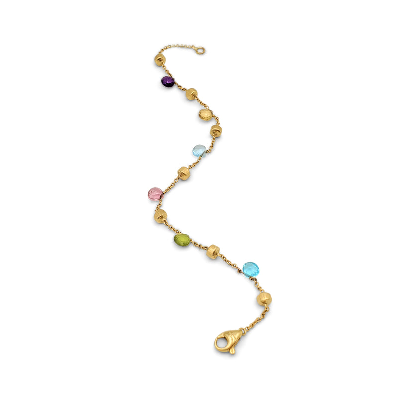 Marco Bicego Paradise Yellow Gold Mixed-Gemstone Single Strand Bracelet
