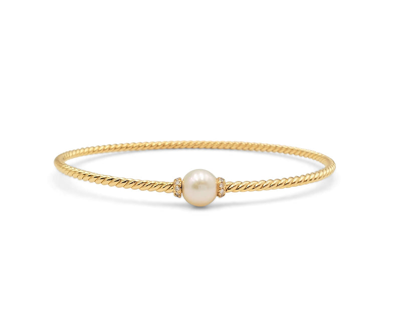 David Yurman Petite Solari Station Bracelet with Cultured Pearl and Diamonds