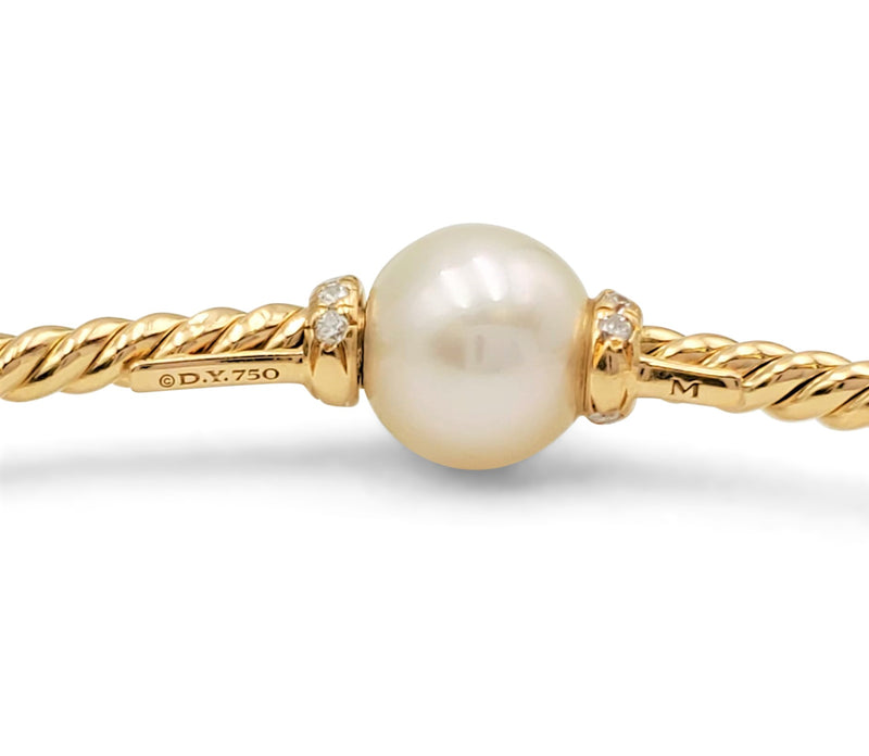 David Yurman Petite Solari Station Bracelet with Cultured Pearl and DiamondsDavid Yurman Petite Solari Station Bracelet with Cultured Pearl and Diamonds