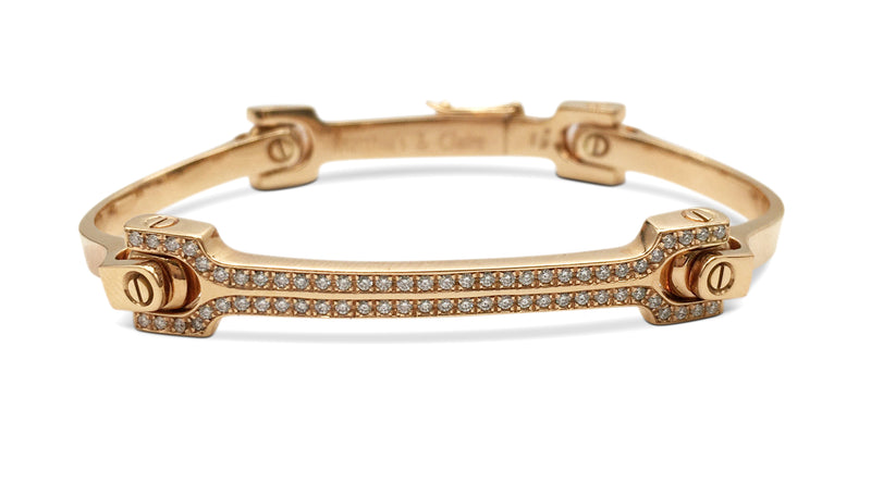 Matthias & Claire Rose Gold and Diamond Bangle