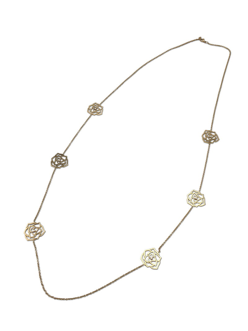 Piaget Rose Gold and Diamond Openwork Long NecklacePiaget Rose Gold and Diamond Openwork Long Necklace