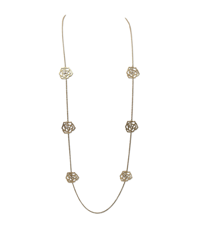 Piaget Rose Gold and Diamond Openwork Long Necklace