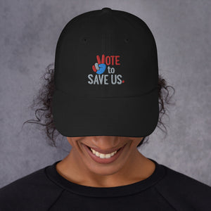 Vote To Save Us Peace RWB Hat_Dad hat