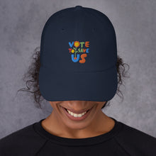 Load image into Gallery viewer, Vote To Save Us Flower Color Hat_Dad hat