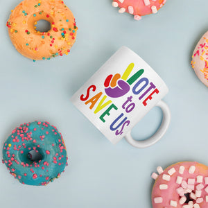 Vote To Save Us Peace Pride Mug