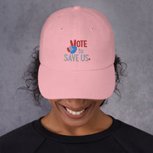 Load image into Gallery viewer, Vote To Save Us Peace RWB Hat_Dad hat