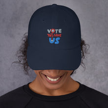 Load image into Gallery viewer, Vote To Save Us Flower RWB Hat_Dad hat