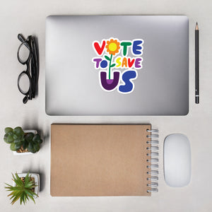 Vote To Save Us Flower Pride Bubble-free stickers
