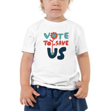Load image into Gallery viewer, Vote To Save Us Flower RWB T-Shirt TODDLER
