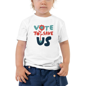 Vote To Save Us Flower RWB T-Shirt TODDLER