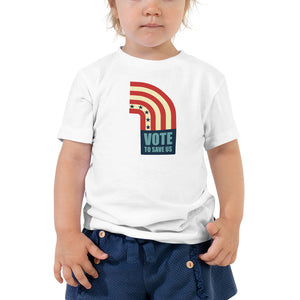 Vote To Save Us Flag RWB T-Shirt TODDLER