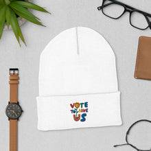 Load image into Gallery viewer, Vote To Save Us Flower Pride Hat_Cuffed Beanie