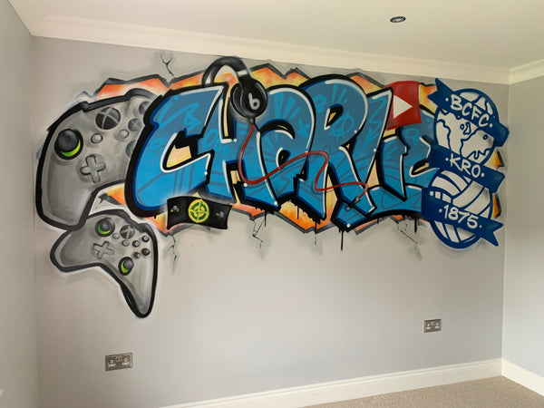 Bedroom graffiti playroom mancave