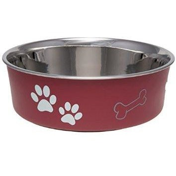 Bella Metallic Pet Food Bowls