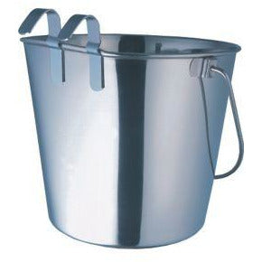 Indipets Heavy Duty Flat Sided Pail With Hook