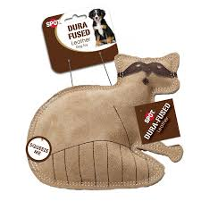 Spot | Dura Fused Leather Dog Toy | Squirrel
