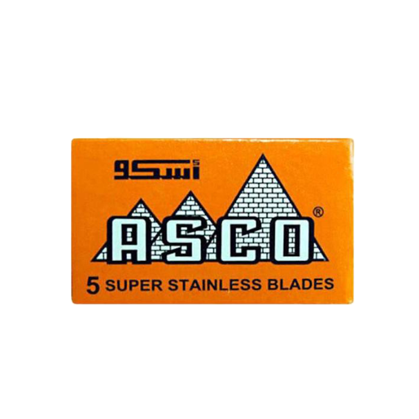 Asco Super Stainless Orange Double Edge Razor Blades (5 Blades)