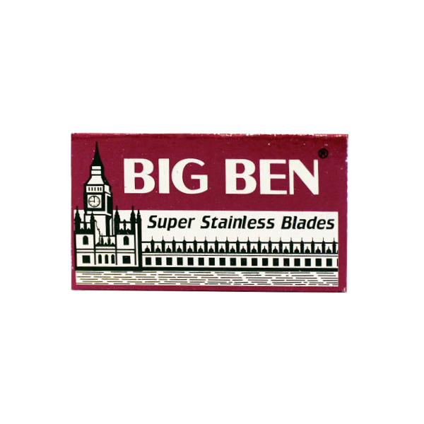 Big Ben Stainless Steel Double Edge Razor Blades (Red)