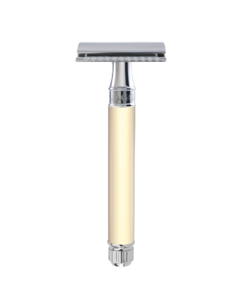 Edwin Jagger DEL8714BL - Ivory Long Handled DE Safety Razor