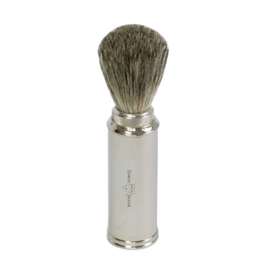 Edwin Jagger 81M529 - Travel Shaving Brush - Nickel