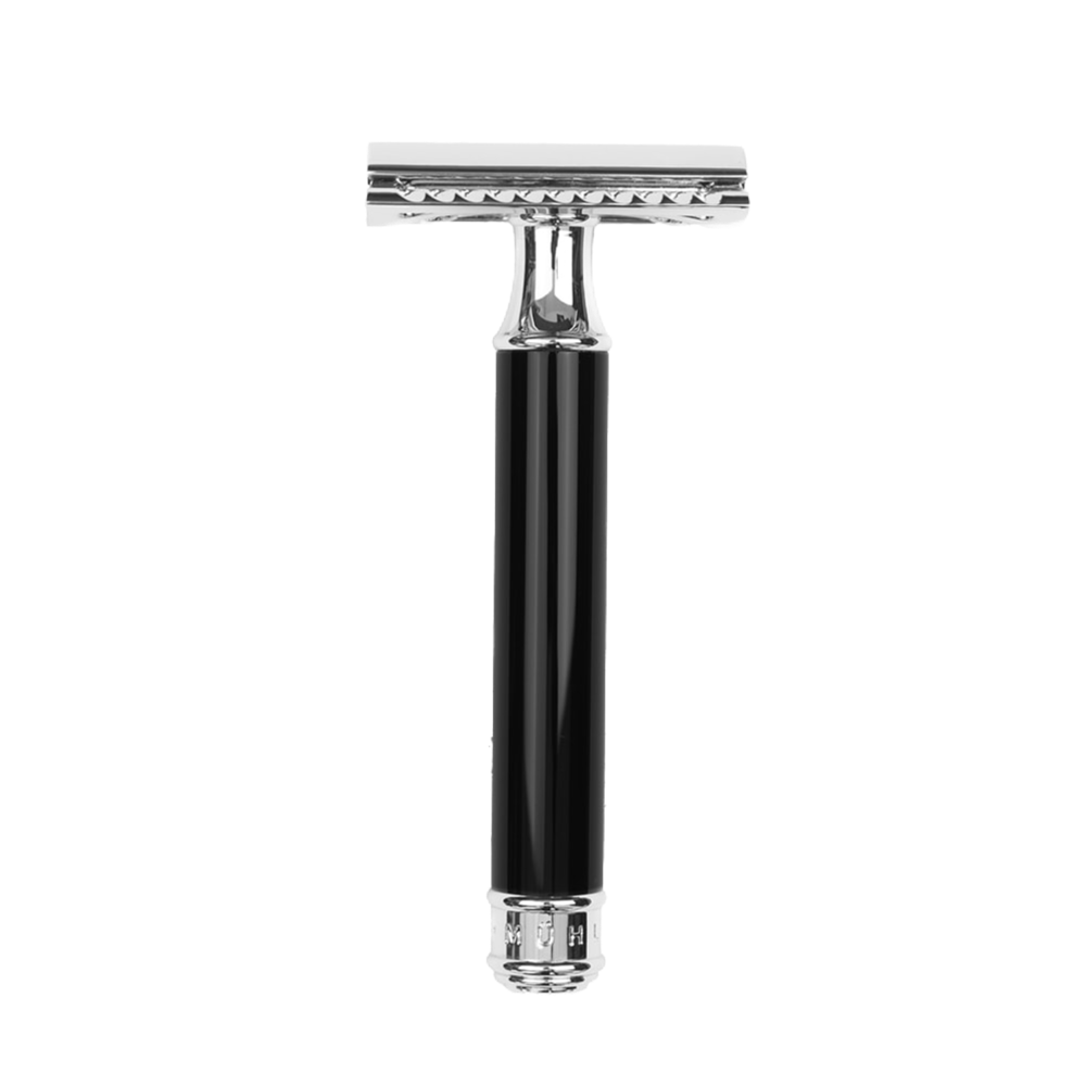 Muhle R106 - Ebony & Chrome Safety Razor - Safety Bar