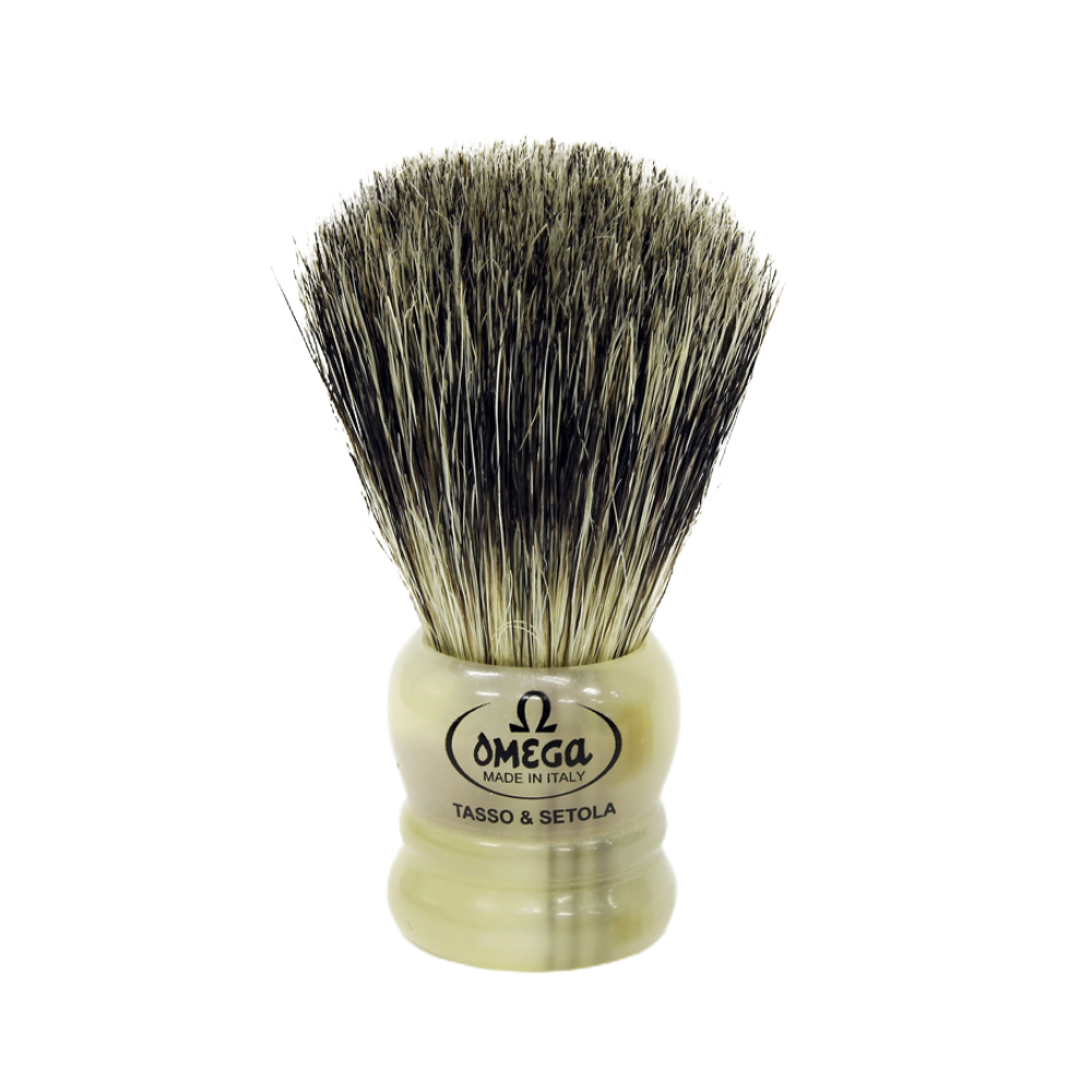 Omega 11047 - Mixed Midget Badger and Boar Travel Size Brush
