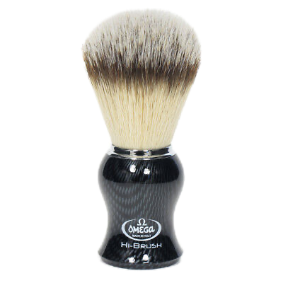 Omega 0146650 Hi-Brush - 46650 Synthetic Nylon Brush, Carbon Fiber Look