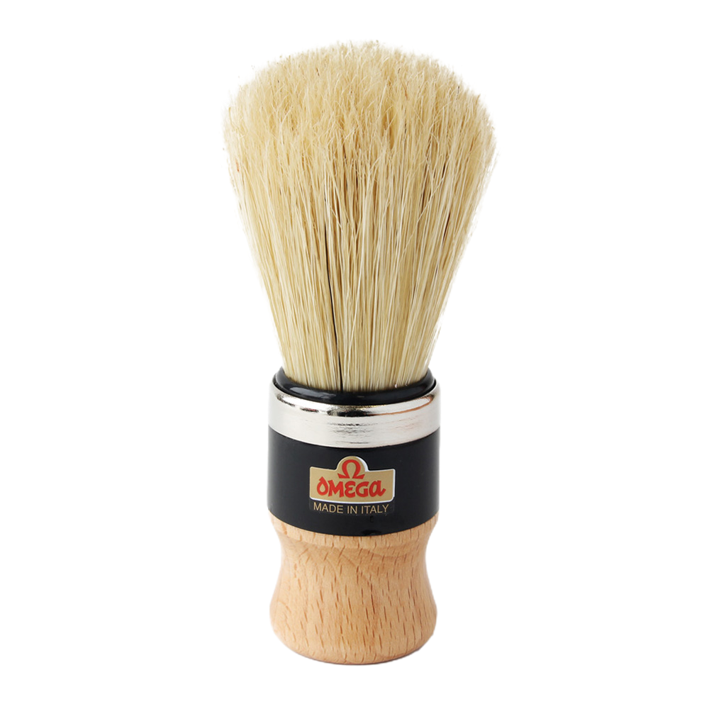 Omega 20102 - Wood Handle Boar Bristle Shaving Brush