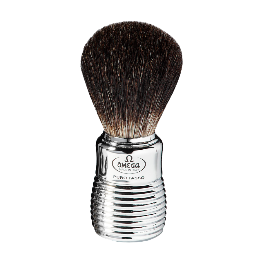 Omega 6113 - Pure Badger Brush - Silver Beehive
