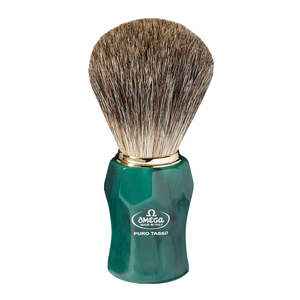 Omega 6152 - Pure Badger Brush - Green