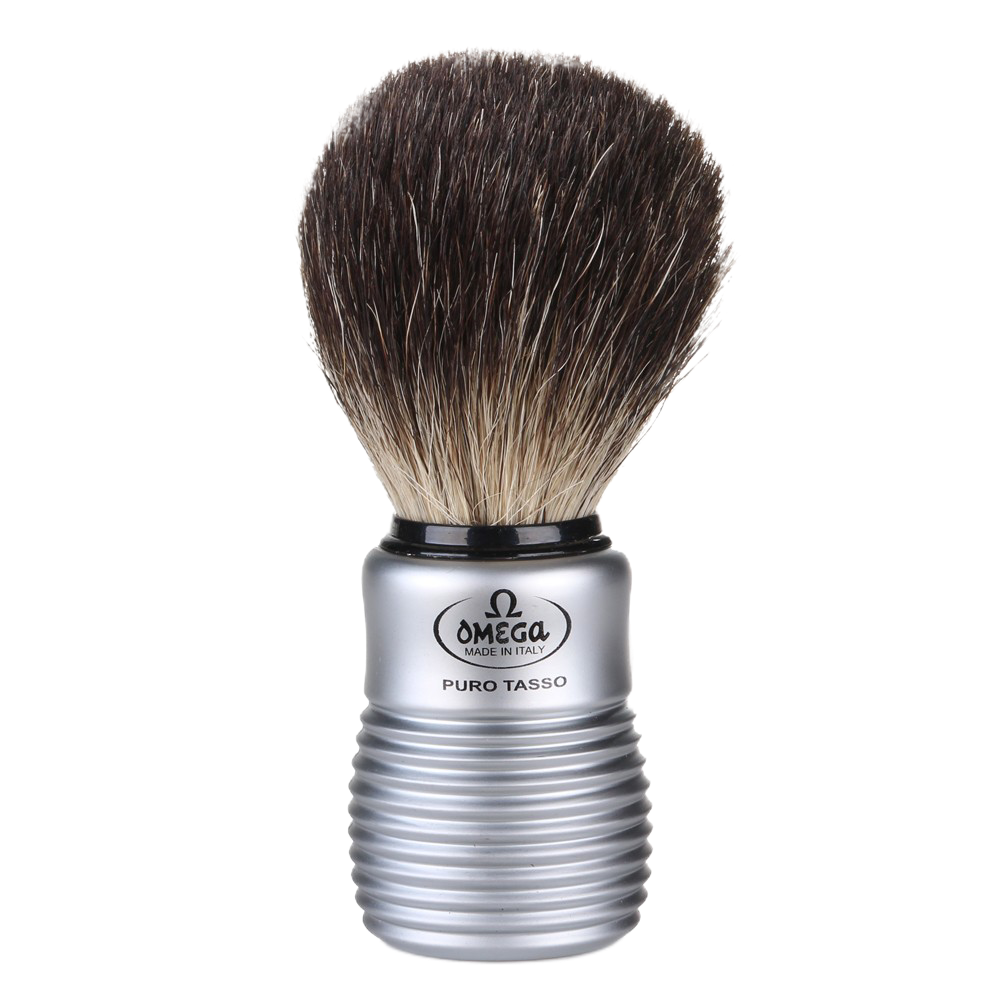 Omega 6230 - Pure Badger Shaving Brush - Aluminum