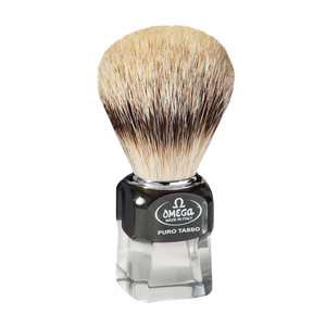 Omega 632 - Silvertip Badger Shaving Brush, Resin Handle