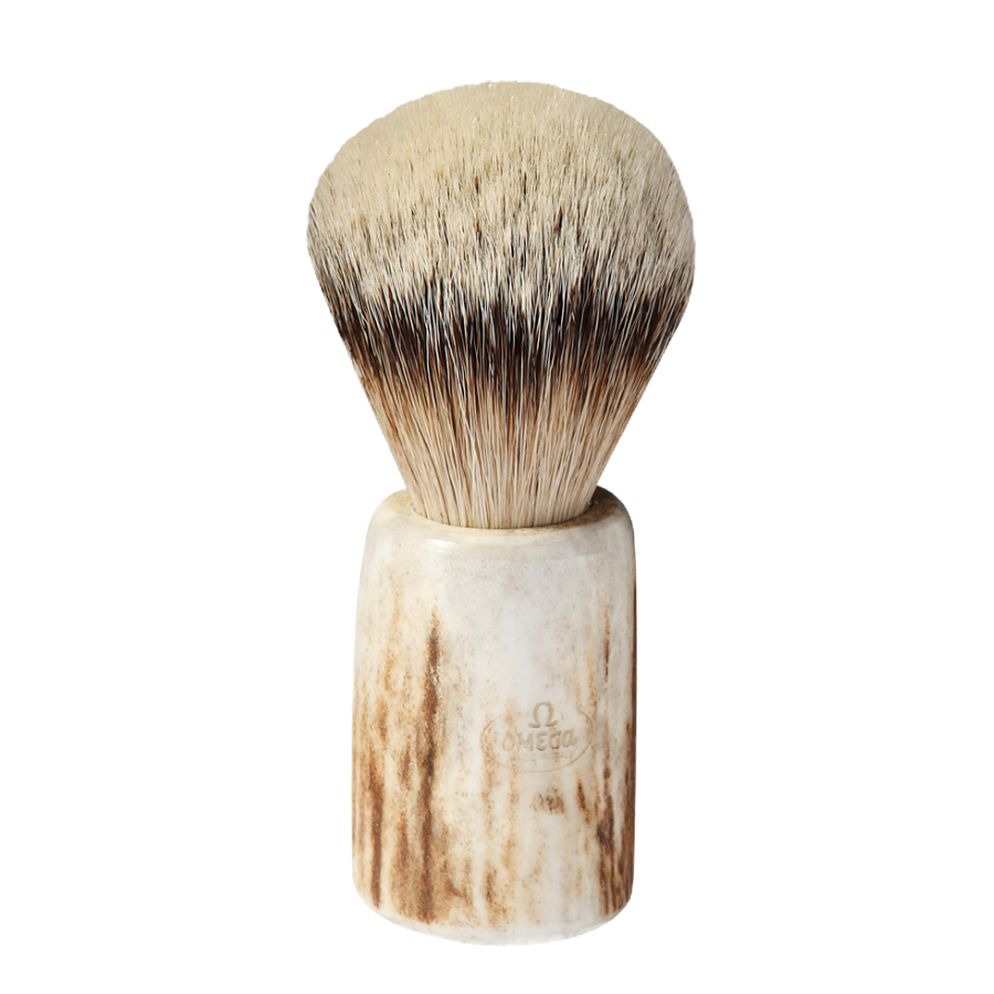 Omega 6550 - Badger Brush With Stag Horn Handle