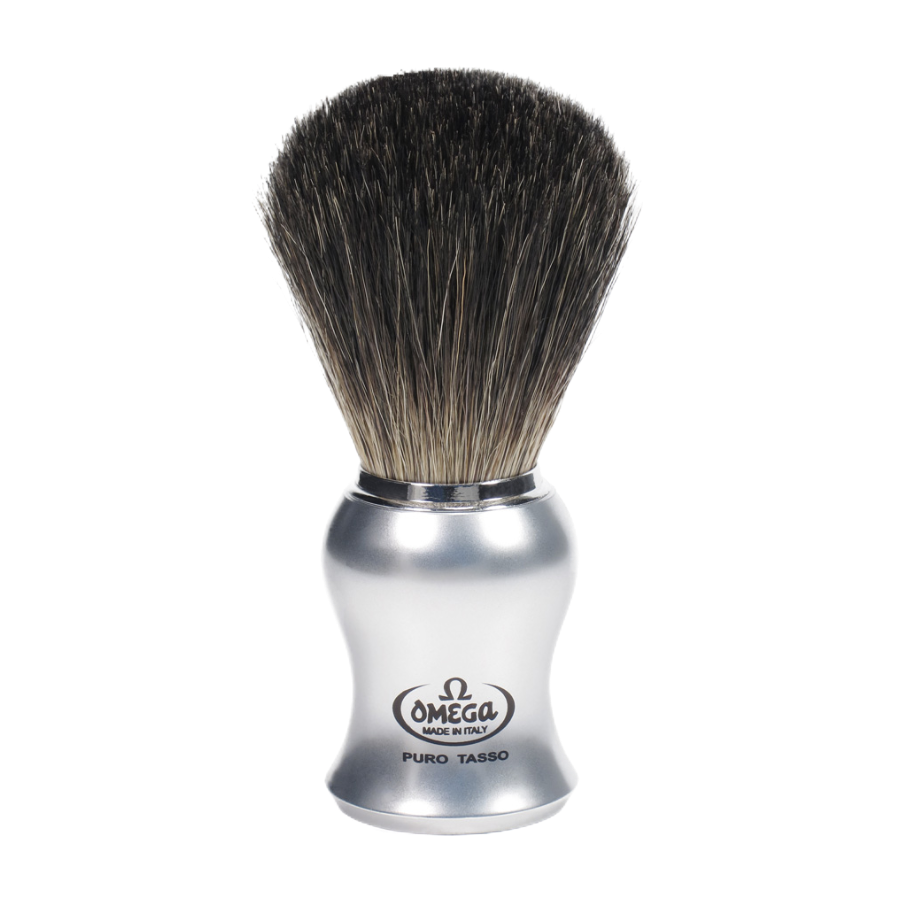 Omega 66229 - Badger Shaving Brush with Stand